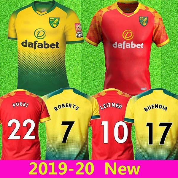 Norwich City UZAK 19 20 futbol Formalar ev KIRMIZI Buendia 17 HERNANDEZ MCLEAN Pukki 22 2019 forması Stiepermann ROBERTS formalarını