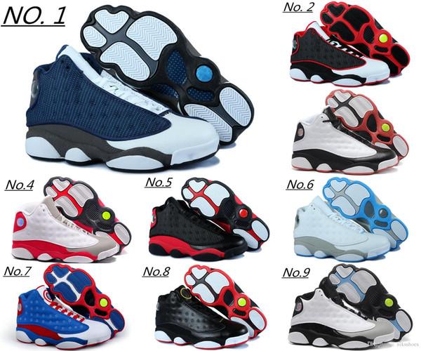 90b3453e7e1543 Cheap 2018 High quality shoes 13 XIII 13s Men Basketball Shoes Women Bred  Black Brown White