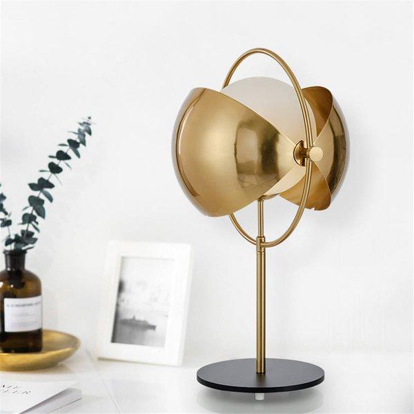 nordic lampe de table design de luxe moderne Villa or verre Lit lumière maison déco vie étude chambre lampe de bureau lampe de table de maquillage conduit