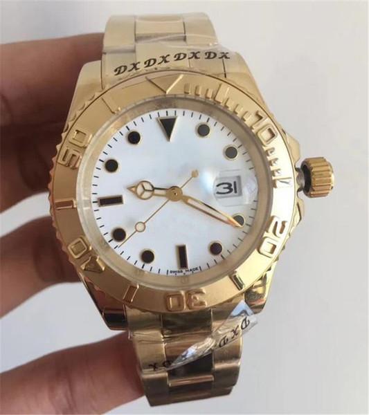 2019 orologio automatico di lusso da uomo di design in oro orologi movimento meccanico spazzare orologi a carica automatica orologio di lusso