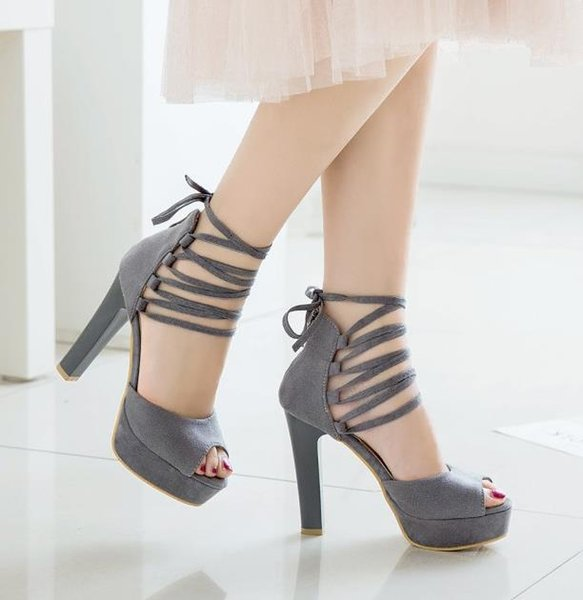 Big small size 31 32 33 to 40 41 42 43 Sexy lace up ankle wrap gladiator sandals peep toe platform high heels women designer shoes