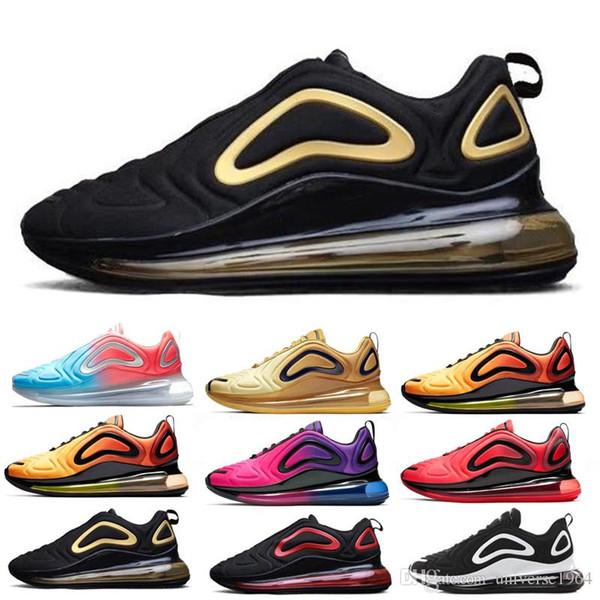 Acheter Nike Air Max 720 720s 72c Airmax Betrue Pride Chaussures Homme Femme Be True True Rainbow De Gilbert Baker Flag Multi Triple Black Taille De