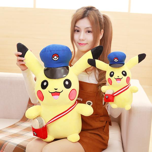 Japonés Anime Nuevo Estudiante Pikachu Stuffed Animal Dolls Kawaii Cartoon Toys Niños Niños Bebé Regalo de Cumpleaños