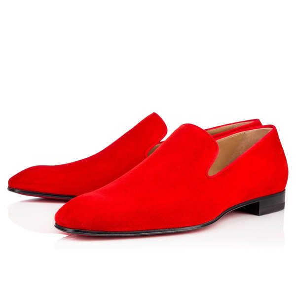 Gentleman Party Bussiness Dress Slip On Loafers Shoes Dandelion Sneaker Red Bottom Oxford Luxury Men's Leisure Fashion Flat DF9