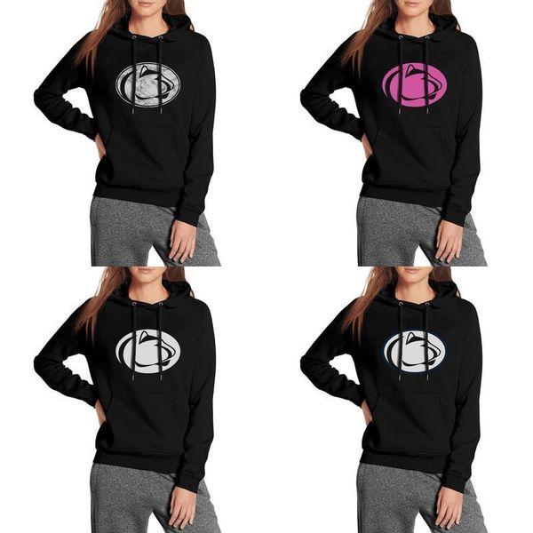 Penn State Nittany Lions football white logo black Womens Hoodie Fleece Sweatshirt Pocket pink breast cancer Marble Print USA flag Mesh