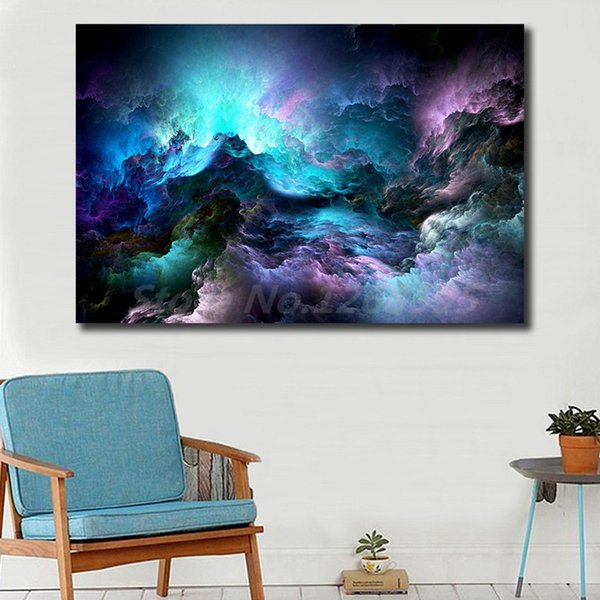 Cloud Abstract HD Poster Canvas Modern Painting Oil Wall Art Print Pictures For Living Room Home Decoracion