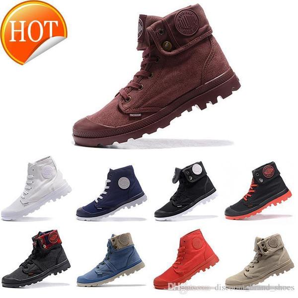 Größe 36-45 Neue Palladium Marke Warme Männer High-Top Army Military Stiefeletten Herren Lady Canvas Turnschuhe Casual Anti-Rutsch-Mode Schuhe