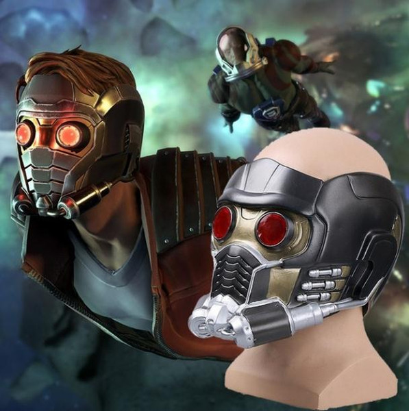 Newest Party Cos Guardians of the Galaxy Helmet Cosplay Peter Quill Helmet PVC with Led Light Star Lord Helmet Halloween Party Mask Adults