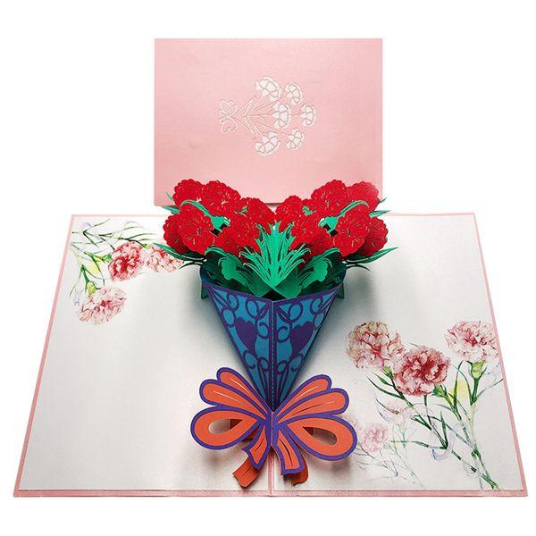Segen Kunst Stereoscopic heraus Karte Thanksgiving Day Cartoon Blumen 3D Gratitude