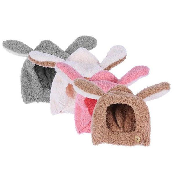 Warm Fleece Baby Cartoon Hats Autumn Winter Toddler Infant Knitted Hat Rabbit Long Ear Hat Baby Fleece Cap Photo Props
