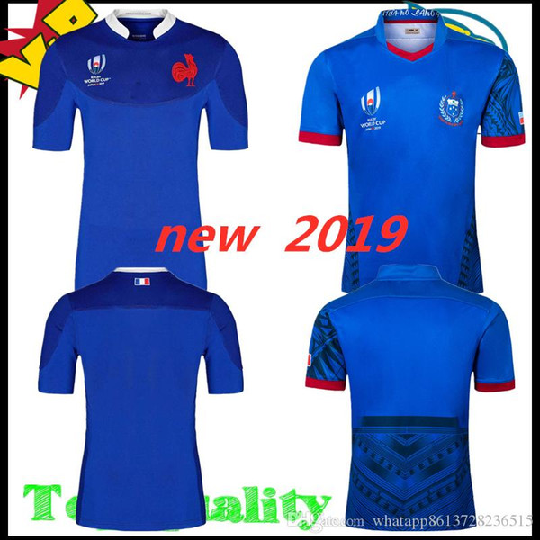 world cup 2019 France Samoa rugby jersey FRANCE Samoa home Rugby Jersey JAPAN HOME RUGBY WORLD CUP 2019 JERSEY Fans Tops