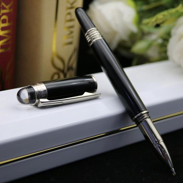 plata negro bolígrafo clip de rodillo