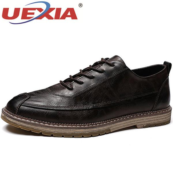 UEXIA Man Dress Shoes Black Slip on Classic Shoes Male Spring Autumn Man Business Anti-slip Rubber Bottom Suit Footwear