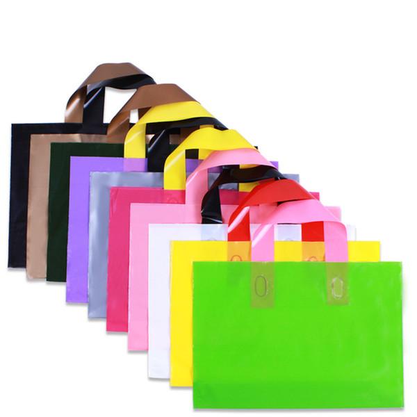 Customize Logo Plastic Bag 30x20cm 35x25cm 40x30cm 45x35cm 50x40cm Shoe Underwear Hat Clothes Handbag Jewelry Makeup Gift Pouch with Handle