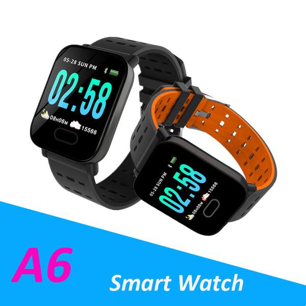 Nueva llegada de Fitbit Deporte inteligente Banda A6 de la presión arterial inteligente pulsera monitor de ritmo cardíaco Calorie Tracker IP67 a prueba de agua reloj de pulsera