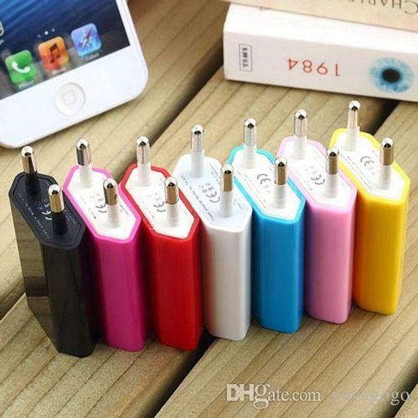 Venta al por mayor de nuevos cargadores de teléfonos celulares NUEVO Adaptador de cargador de pared para el enchufe de corriente USB para el teléfono móvil iPhone Samsung E264