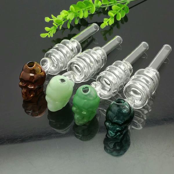 Мульти-круг провод череп плита стеклянные бонги стекло курительная труба водопровод нефтяная вышка стеклянные чаши масляная горелка
