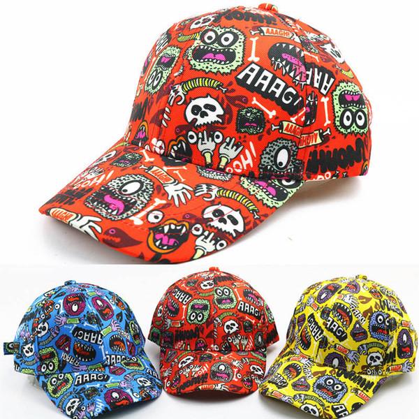 Хип-хоп детские дизайнерские шапки Мультяшные детские шапки Симпатичные мальчики Бейсболка для девочек Бейсболка Шляпа для детей с фуражкой Детские шапки Мальчики Шапки A6473