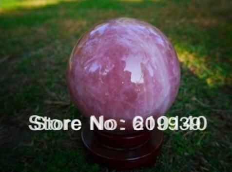 New ++ BIG natural beautiful STAR LIGHT ROSE QUARTZ CRYSTAL sphere ball 160mm