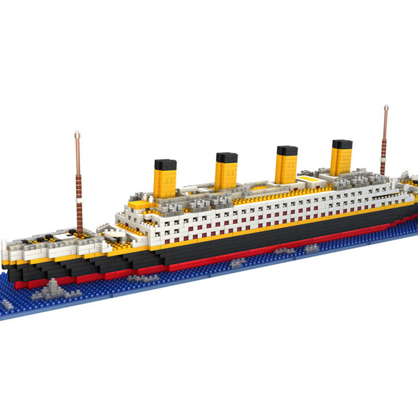best selling 1860 Pcs Cruise Ship Model Boat DIY Building Diamond Mini Assemble Blocks Kit Children Kids Toys Birthday Gift With Lepining Y200428