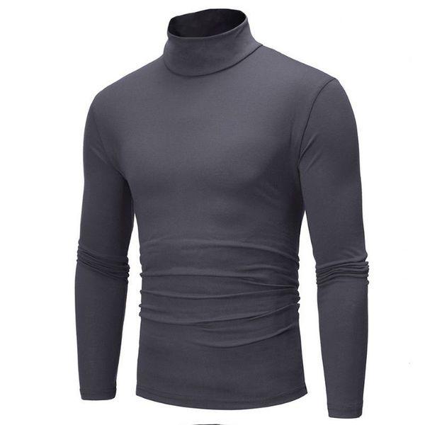 2019 Nova Queda Inverno Homens Camisola de Gola Alta Camisola Dos Homens de Malha Blusas Men Slim Fit Marca 7 Cor