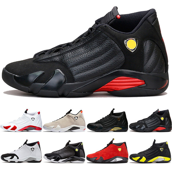 Nike Jordan Air Retro 14s Баскетбольные кроссовки 14 Мужчины 2019 Candy Cane Desert Sand DMP Последний удар