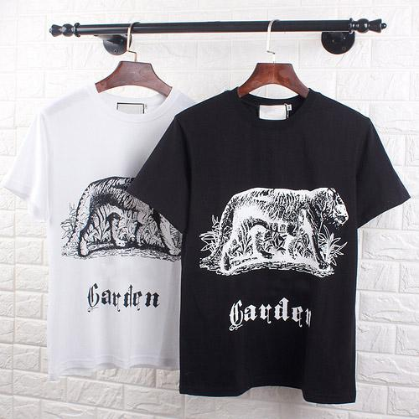 Das T-Shirt GG der neuen Marken-Männer Qualitäts-Sommer-heiße T-Shirts Hip Hop-Straßen-T-Shirt Modetigerdruck T-Shirts Baumwollkomfort-T-Shirt
