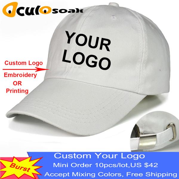 Baseball Cap Print Custom Text Photo Embroidery Gorra Casual Solid Hats Pure Color Black Cap Snapback Caps For Men Women