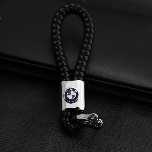 2 Pieces 3D Car Logo Keyring Keychain Auto Key Ring Key Chain Holder Keyfob For BMW IIIM Cadillac Ford Land Rover Car Styling Accessories