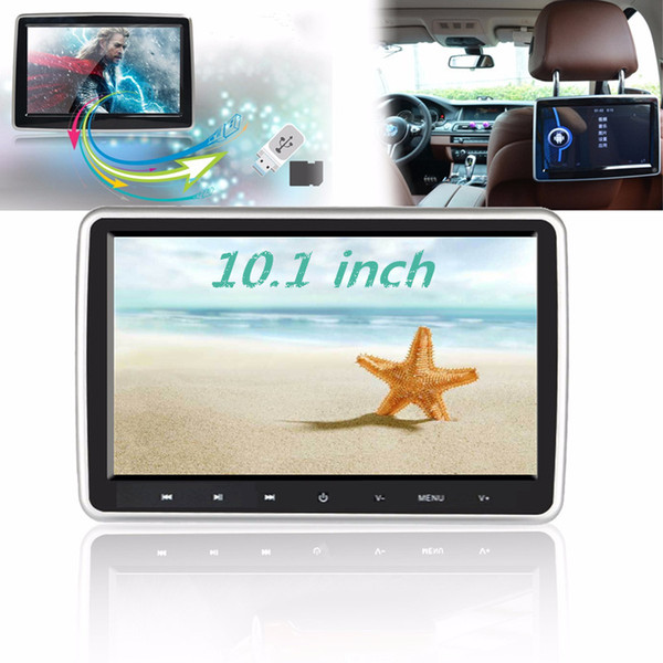 10.1 inch Car Headrest Monitor Auto DVD Player Multimedia MP4 MP5 Video Player TFT HD LCD Touch Screen 1024x600 bluetooth/USB/FM