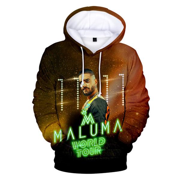 Maluma Hoodies Männer / Frauen Sweatshirts Hoodie Herren 3D Cap Hoody Maluma Hooded Jungen / Mädchen Hip Hop Winter Fashion Brand Design Mäntel