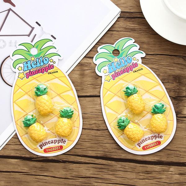Acheter Nouvelle Création Kawaii Ananas Crayon Gommes Pour Office School Kids Prix écriture Dessin étudiant Cadeau Papeterie Fournitures De 3494 Du