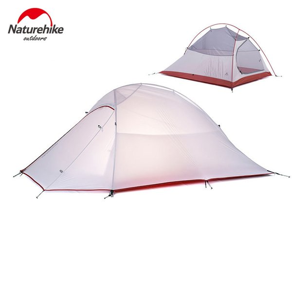 Naturehike Cloud Up Series 1 2 3 Person Ultralight Tent 20D Silicone Tent Double Layer Outdoor Camping Hiking with Free Mat