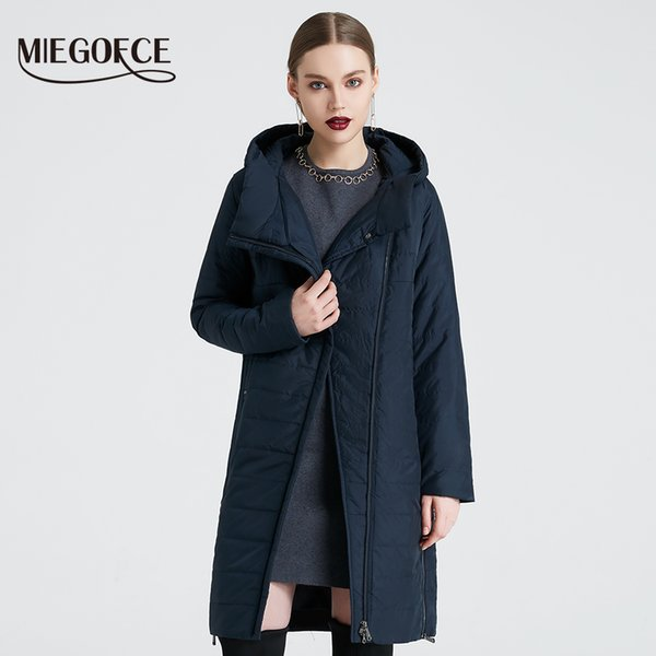 2019 MIEGOFCE spring women jacket with a curve zipper women coat high-quality thin cotton padded jacket women's warm parka coat