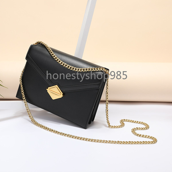 2019 New Cowhide Women's one-shoulder bag, Korean Organ, small Square bag, Leather Cross-chain Women's bag, one-piece hair substitute