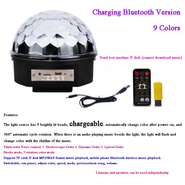 9 Colors Bluetooth Charging