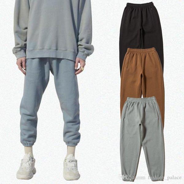 Calabasas Temporada 6 Jersey Calça de Jogging Homens Kanye West com cordão Sweatpants Sólidos Moda Casual solta Bottoms TNI0412