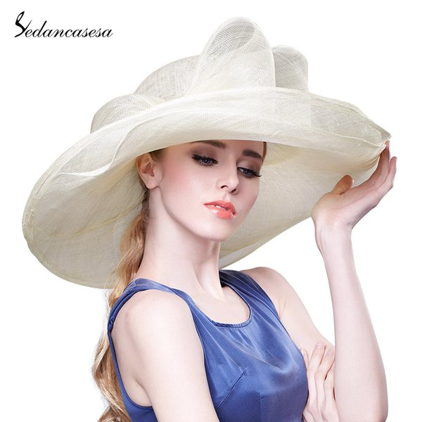 2019 New Fashion Summer Sun Hat for Women UV Protection Large Brim Elegant Bowknot Ladies Hats Overflowed Beach Cap Female Caps