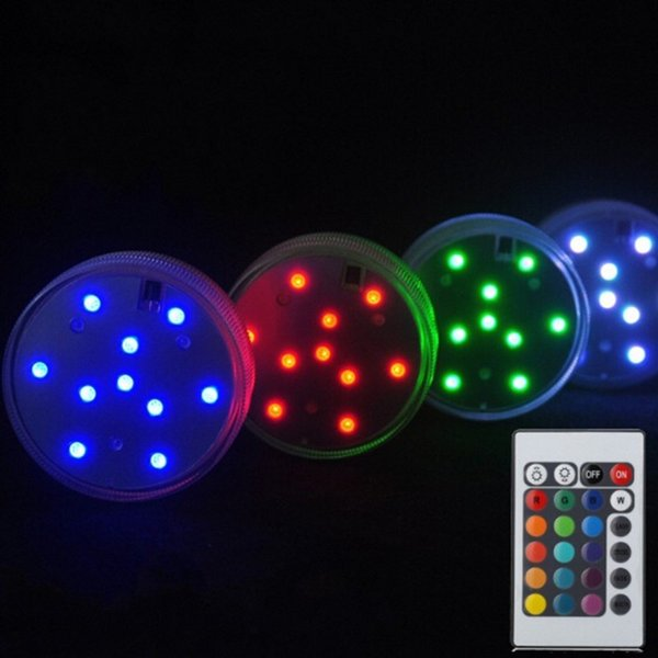 Father's Day Centerpiece Decoration RGB Submersible LED Waterproof Light Electronic Candle Floarl Hookah Base Light Kids Toy