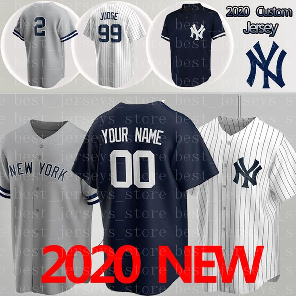 best selling 2020 Baseball Jerseys 99 Aaron Judge Yankees jersey 27 Giancarlo 2 Derek 24 Gary jerseys 3 Babe Ruth 7 Mickey Mantle Custom Jerseys