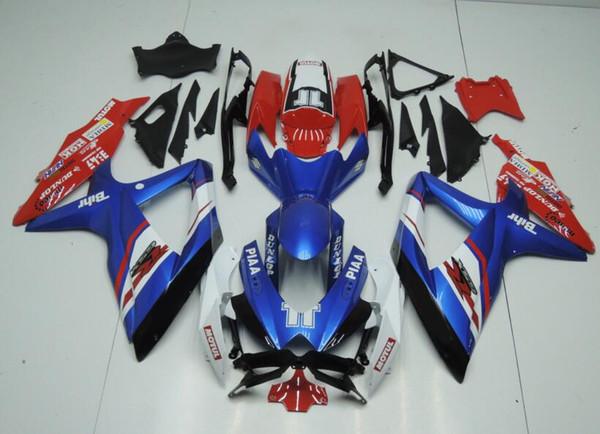 Nuevo ABS Kit completo de carenados 100% apropiado para SUZUKI GSXR600 GSXR750 08 09 10 GSX R600 R750 K8 GSX-R600 GSXR 600 750 2008 2009 2010 personalizado