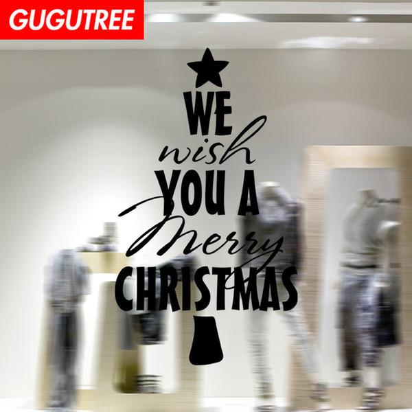 Décorer la maison joyeux Noël nouvel an art sticker mural décoration Stickers peinture murale Amovible Décor Papier Peint G-1237