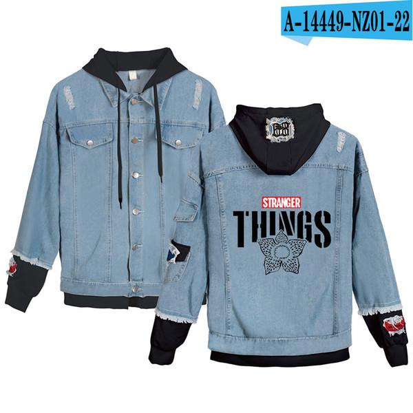 New fashion TV Series Stranger things Hoodies Denim jacket Men/Women Creative Harajuku Stranger things Boy/Girl Sweatshirts