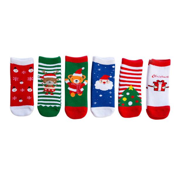 Новый стиль 2019 осень зима Рождество Дети носки мультфильм Детские носки хлопковые носки Девочки Мальчики Носок новорожденный подарок голеностопного Носок A8587