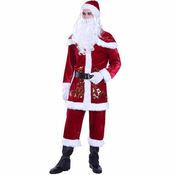 Joyeux Noël Stylistes cosplay des femmes des hommes Mode Père Noël Thème Couple cosplay costume assorti Vêtements