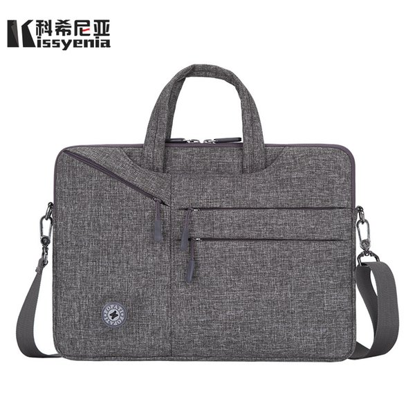 Kissyenia Waterproof Macbook Cover Light 13 14 15inch Laptop Case Business Travel Computer Briefcase Flight Shoulder Bag KS1196