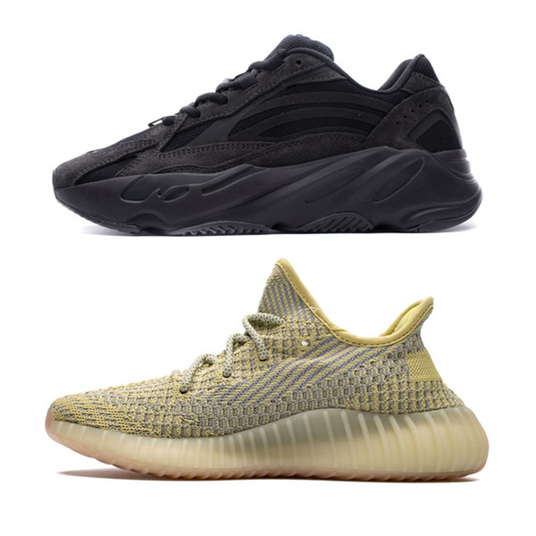 Новый 700 V2 облако Белый цитрин Kanye West обувь Магнит светоотражающий Yeezreel, Yecheil v2 Lundmar