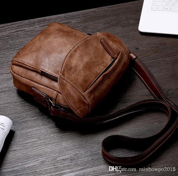 outlet brand men handbag new vintage leather slung shoulder bag simple Joker backpack outdoor travel leisure leather shoulder bag