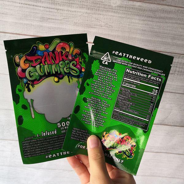 Gomas brancas cor verde
