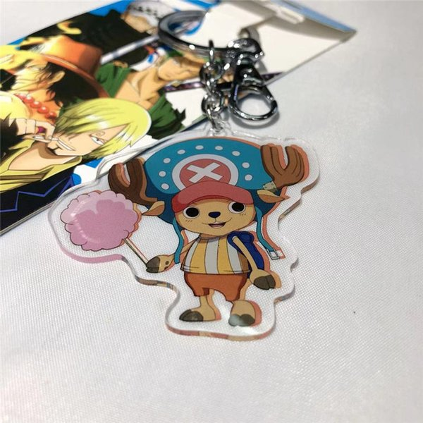 Anime The PUBG One Piece Natsume My Hero Academia fifth personality Key Chain Double Sided Acrylic Fashion Accessories